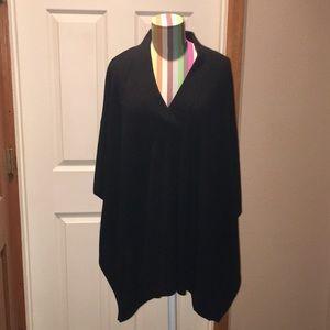 Nordstrom new cashmere black poncho